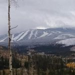 View of Winter Park Resort in the fall Winter Park Colorado.