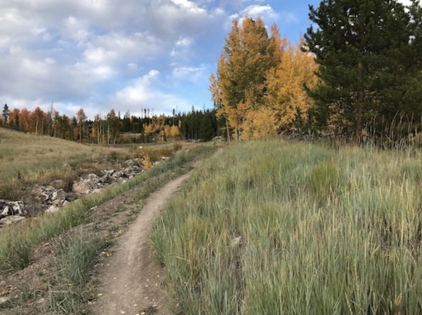 Fall mountain biking trails in Winter Park Colorado.