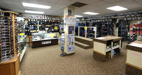 Winter Park ski and rental snowboard shop.