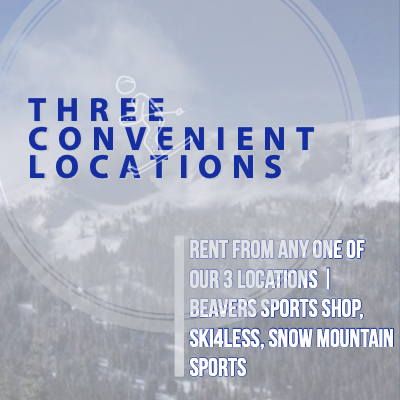 Three Winter Park ski and snowboard rental locations