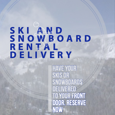 Ski and snowboard rental delivery in the Winter Park CO area.
