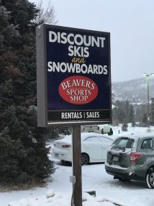 Beavers Sports Shop ski and snowboard rental location downtown Winter Park