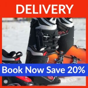 Save 20% on ski and snowboard rental delivery