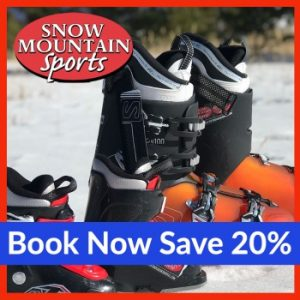 Book now save 20% with Snow Mountain Sports