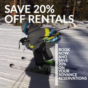 Save 20% Winter Park Ski Rentals