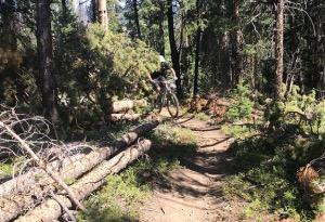 Rider on Broken Thumb Trail in Winter Park