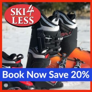 Save 20% on ski and snowboard rentals with Ski4Less